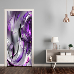 Fotótapéta ajtóra - Photo wallpaper – Purple abstraction I