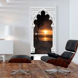 Fotótapéta ajtóra - Photo wallpaper - Gothic arch and sunset I