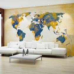 Fotótapéta - Map of the World - Sun and sky