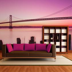 Fotótapéta - San Francisco-öböl lila. California