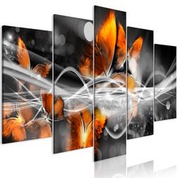 Kép - Swarm of Butterflies (5 Parts) Wide Grey