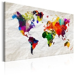 Kép - World Map: Rainbow Madness