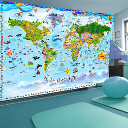 Fotótapéta - World Map for Kids