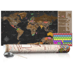 Kaparós térkép - Brown Map - Poster (English Edition)