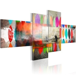 Kép - Rainbow hued braids