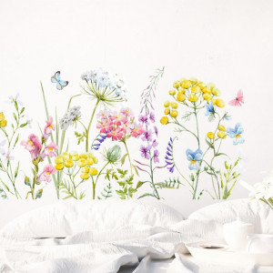 Csokor színes virágok - Falmatrica