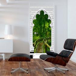 Fotótapéta ajtóra - Photo wallpaper - Gothic arch and jungle I