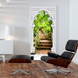 Fotótapéta ajtóra - Photo wallpaper - Gothic arch and stone staircase I