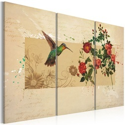 Kép - Hummingbird and roses