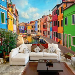 Fotótapéta -  Colorful Canal in Burano