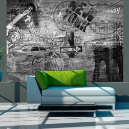 Fotótapéta - New York. black and white. collage