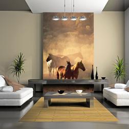 Fotótapéta - Vad lovak a steppe
