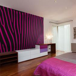 Fotótapéta - Zebra pattern (violet)