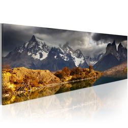 Kép - Mountain landscape before a storm