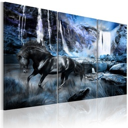 Kép - Waterfall in colour of sapphire