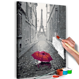 Kifestő - Paris (Red Umbrella)
