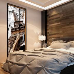 Fotótapéta ajtóra - Photo wallpaper - Eiffel Tower on wood I