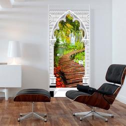 Fotótapéta ajtóra - Photo wallpaper - Gothic arch and path I