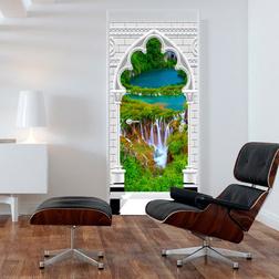 Fotótapéta ajtóra - Photo wallpaper - Gothic arch and waterfall I