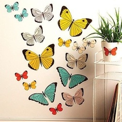 Pasztell pillangó matrica