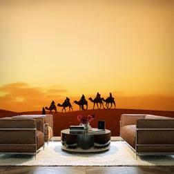 Fotótapéta - Caravan a Szahara sivatagban