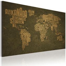 Kép - A térkép a világ. német nyelv: Beige kontinensen