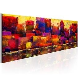 Kép - Colourful City Skyline