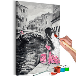 Kifestő - Venice (A Girl In A Pink Dress)