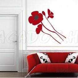 Pipacs (dekorációs matrica)