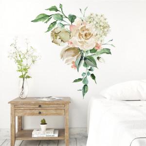 Csokor nyitott virágokkal - Falmatrica