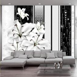 Fotótapéta - Crying lilies in white