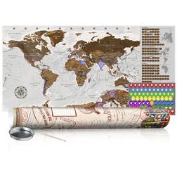 Kaparós térkép - Grey Map - Poster (English Edition)