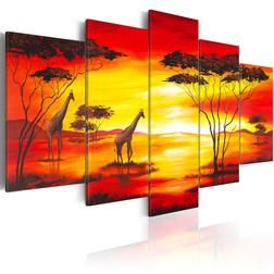 Kép - Zsiráfok a háttérben a naplemente