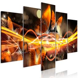Kép - Swarm of Butterflies (5 Parts) Wide Orange