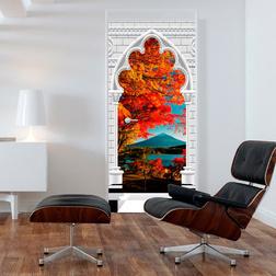 Fotótapéta ajtóra - Photo wallpaper - Gothic Arch and Mount Fuji I