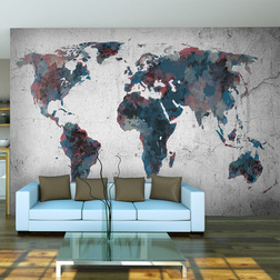 Fotótapéta - World map on the wall
