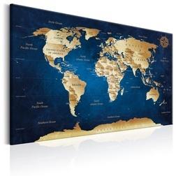Kép - World Map: The Dark Blue Depths