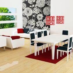 Fotótapéta - Black and white floral pattern