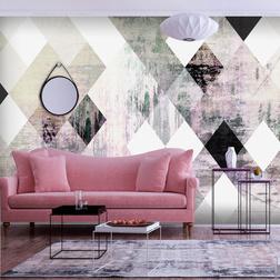 Fotótapéta - Rhombic Chessboard (Pink)