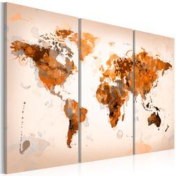Kép - Map of the World - Desert storm - triptych