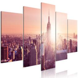 Kép - Sun over Manhattan (5 Parts) Wide Orange