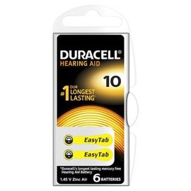Poze Baterie Duracell pentru aparat auditiv ZA 10 6buc