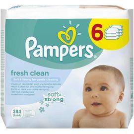 Poze Șervețele umede Pampers Baby Fresh Clean, 6x64 bucăți