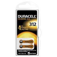Baterie Duracell pentru aparat auditiv ZA 312 6buc