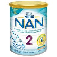 Lapte praf Nestle Nan2 800g 6-12 luni
