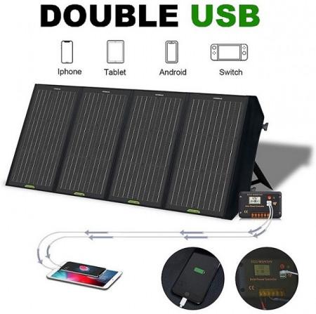 Poze Panou solar pliant 12v 120w portabil pentru camping