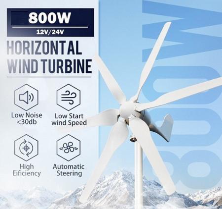 Poze Turbina eoliana 800W 12V/24V + controller MPPT
