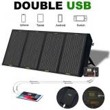 Panou solar pliant 12v 120w portabil pentru camping