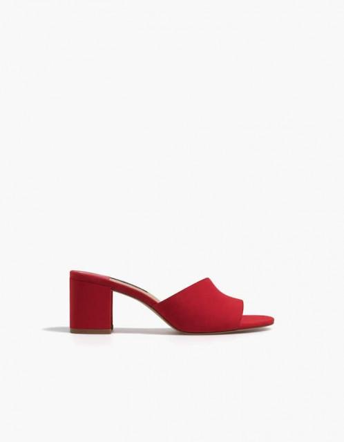 Poze Stradivarius Sandals Red Heel