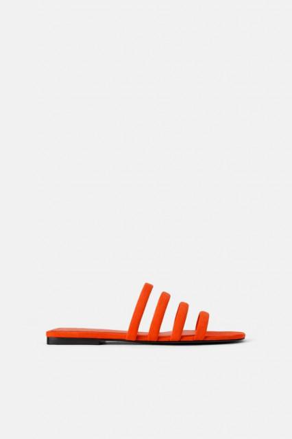 Zara OrangeFlatSandals